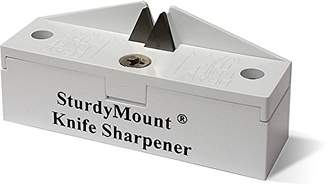 Accusharp SturdyMount Knife Sharpener, White