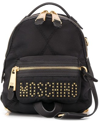 Moschino mini studded logo backpack