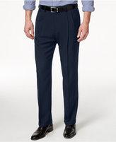 Haggar Men's Big & Tall Stria Classic-Fit ECLO Double Pleated Dress Pants