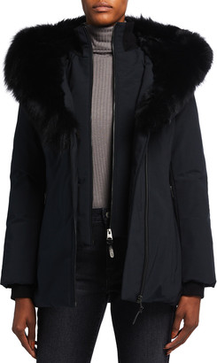 Mackage Core Down Coat with Fur Trim and Lining