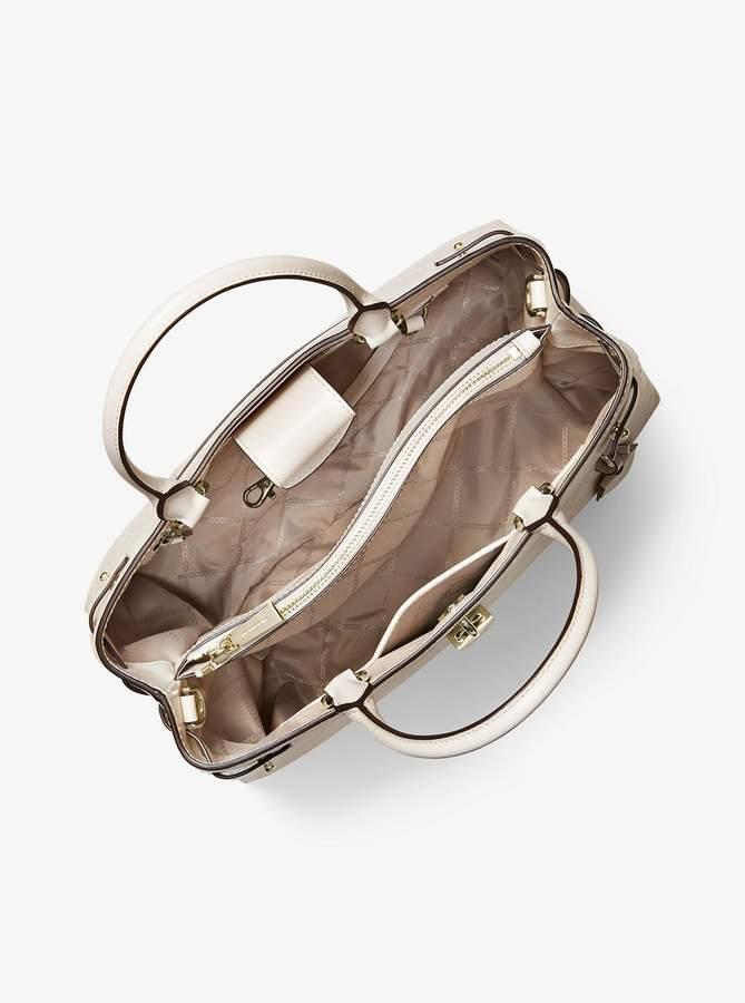 b7e7114719a4 Michael+kors+gold+chain+handle+handbag - ShopStyle