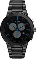 Citizen Men's Chronograph Axiom Black-Ion Plated Stainless Steel Bracelet Watch 43mm AT2245-57G, A Macy's Exclusive