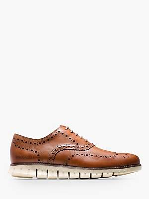 Cole Haan Zerogrand Wingtip Leather Oxford Shoes, British Tan