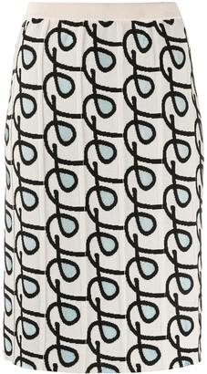 Christian Wijnants Jacquard Geometric Pattern Skirt