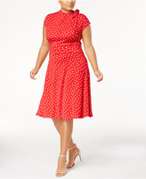 Love Squared Trendy Plus Size Mock-Neck Retro Dress