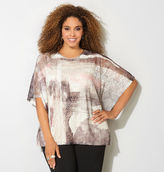 Avenue Brushstroke Lace Poncho Top
