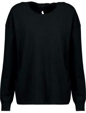 Theory Split-back Merino Wool Sweater