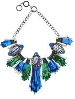 Forest of Chintz Disco Jungle Blue Green Fringe Necklace