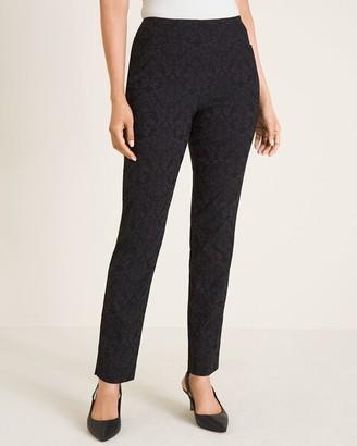 So Slimming Brigitte Tonal Jacquard Slim Ankle Pants