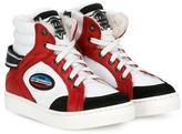 John Galliano racing hi-top sneakers