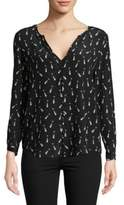 Joie Graphic Silk Blouse