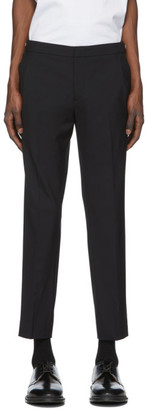 Solid Homme Black Zippered Waist Trousers