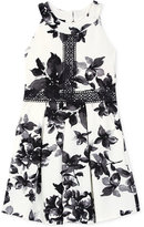 Amy Byer Floral-Print Crochet Lace Dress, Big Girls (7-16)
