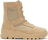 Yeezy Beige Combat Boots