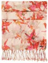 Écharpe à fleurs en coton mélangé à