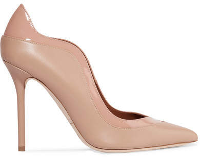 Malone Souliers by Roy Luwolt - Penelope Two-tone Leather Pumps - Blush
