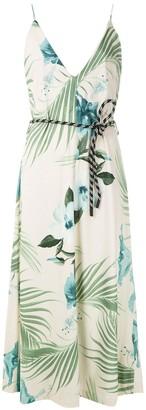 OSKLEN Hibisco print wrap dress