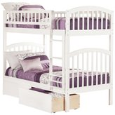 Atlantic Richland White Rubberwood Twin-over-twin Bunk Bed With Urban Drawers