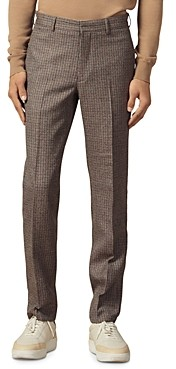 Sandro Houndstooth Slim Fit Suit Pants