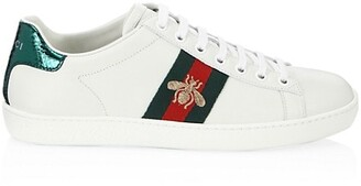 Gucci New Ace Bee Embroidered Sneakers