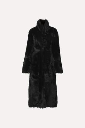 Akris Reversible Shearling Coat - Black