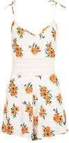 Topshop Orange flower playsuit