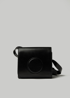 Lemaire Women's Camera Bag in Black Calfskin Leather