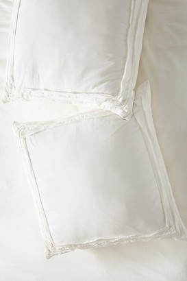 Anthropologie Joey Washed Percale Euro Sham By in White Size EURO SHAM