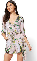 New York & Co. 7th Avenue Bubble-Sleeve Romper - Pink