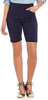 Intro Sheri Pintuck Pull-On Denim Bermuda Shorts