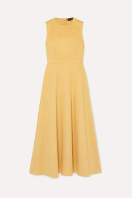 Theory Cotton-blend Gabardine Maxi Dress - Marigold