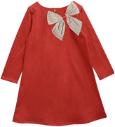 Red & Candy Windowpane Bow Aurora Dress - Infant, Toddler & Girls