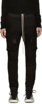 Rick Owens Black Cargo Lounge Pants