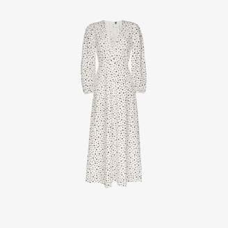 Rixo Blaire star print cotton maxi dress