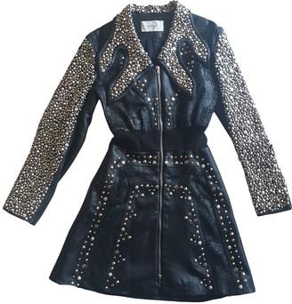 Rodarte Black Leather Coat for Women
