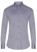 Brioni Button-down Collar Cotton Shirt