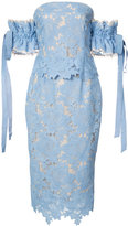 Rebecca Vallance lace midi dress - women - Cotton - 6