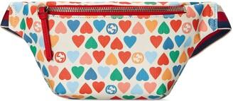 Gucci Children's G heart print belt bag