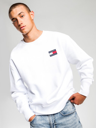 Tommy Hilfiger Tommy Badge Crew Jumper in White