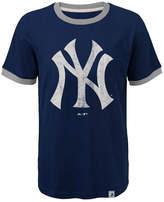 Majestic New York Yankees Baseball Stripes Ringer T-Shirt, Big Boys (8-20)