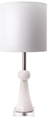 nuLoom 30In Alabaster Bambi Spire Linen Shade Table Lamp