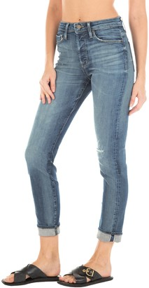 Fidelity Pixie Ultra High Waist Ankle Button Fly Jeans