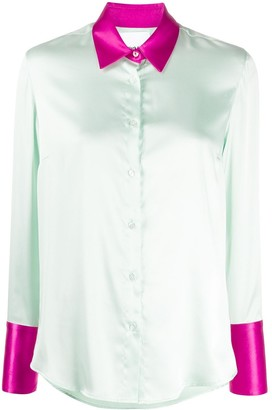 Black Coral Satin Shirt