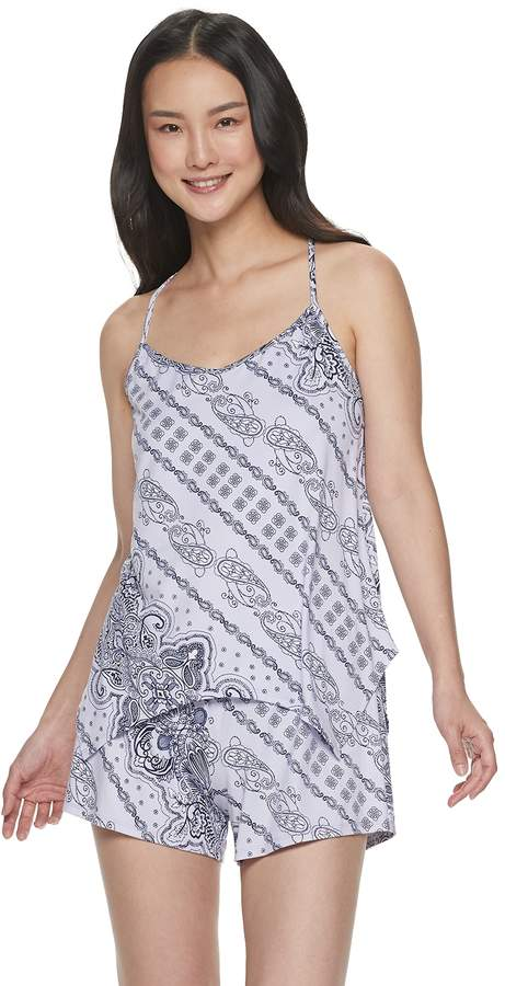 Apt. 9 Women's Printed Sleep Cami & Pajama Shorts Set