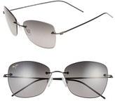 Maui Jim Women's Apapane 55Mm Polarizedplus2 Rimless Sunglasses - Burgundy/ Maui Rose