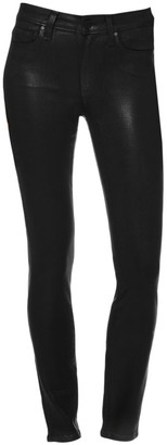 Paige Hoxton High-Rise Coated Ankle Skinny Jeans