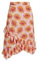 Altuzarra Maxwell ruffled floral-print skirt