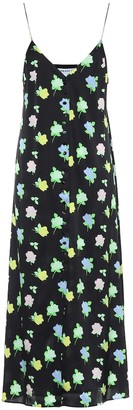 BERNADETTE Hailey floral silk-satin satin dress