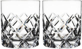 Orrefors Sofiero Set of 2 Crystal Old Fashioned Glasses