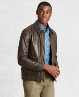 Brooks Brothers Golden Fleece Leather Bomber Jacket